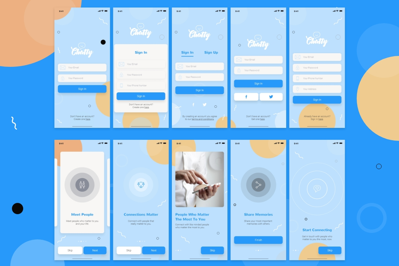 Chatty Mobile UI Kit example image 4