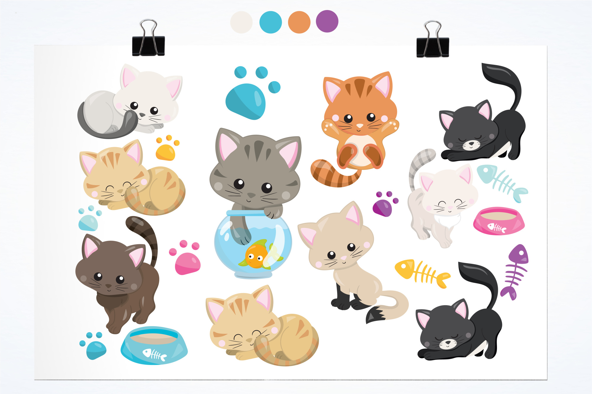 Adorable Kitties graphics and illustrations example image 2