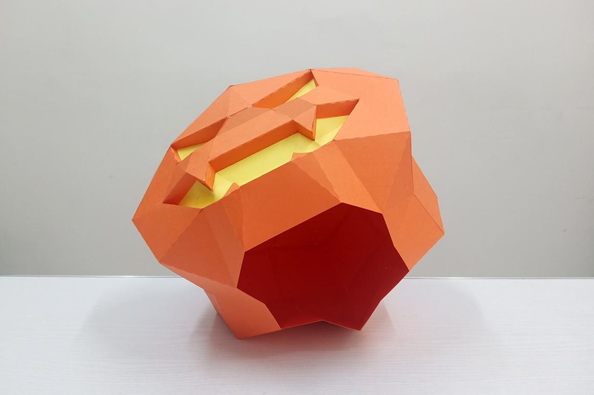 DIY Halloween Pumpkin lamp - 3d papercraft example image 6