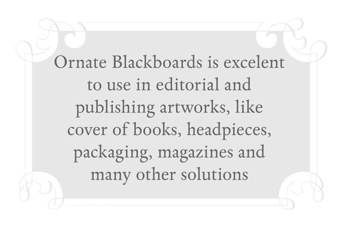 Ornate Blackboards pack example image 4