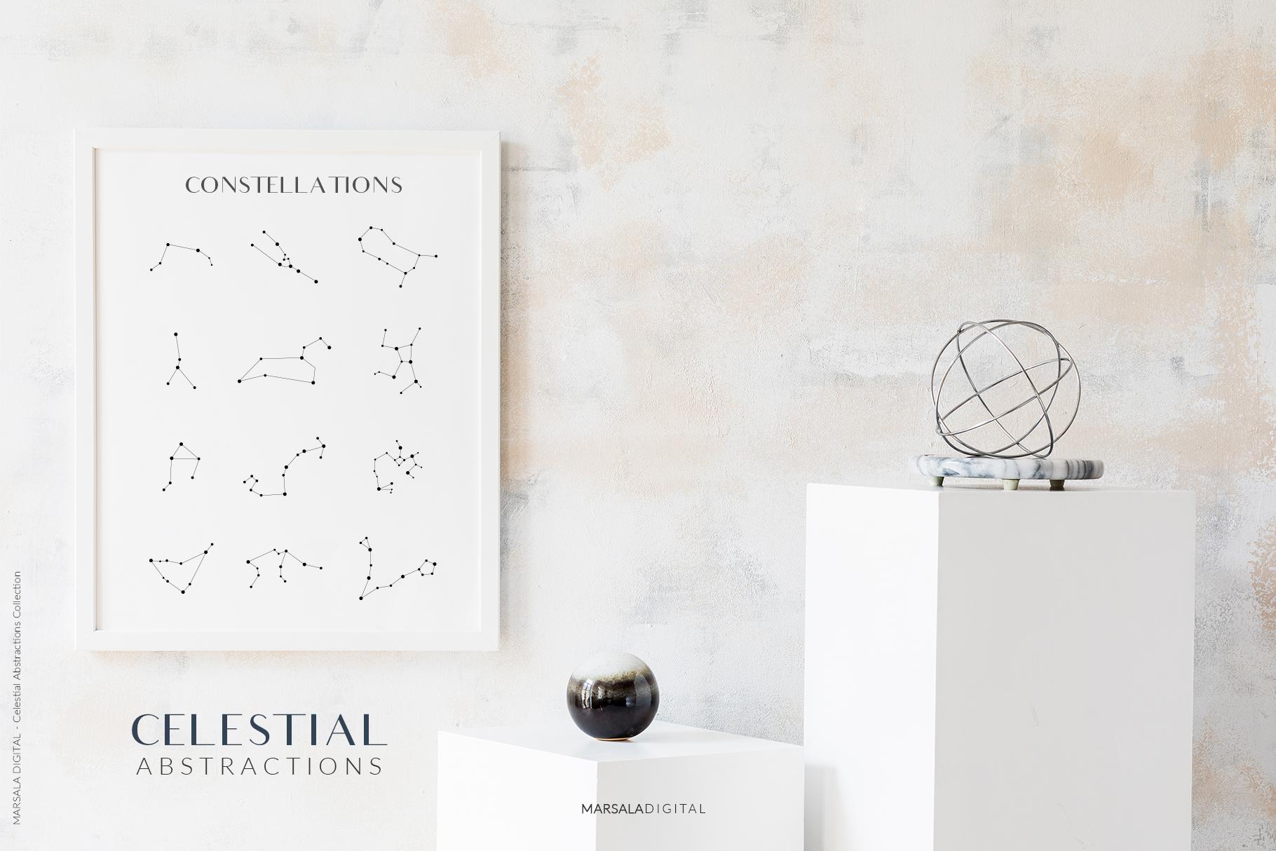 Celestial Abstract Set, Zodiac Stars example image 3