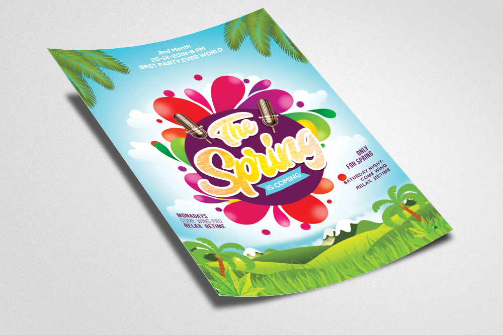 Spring Festival Flyer Template example image 2