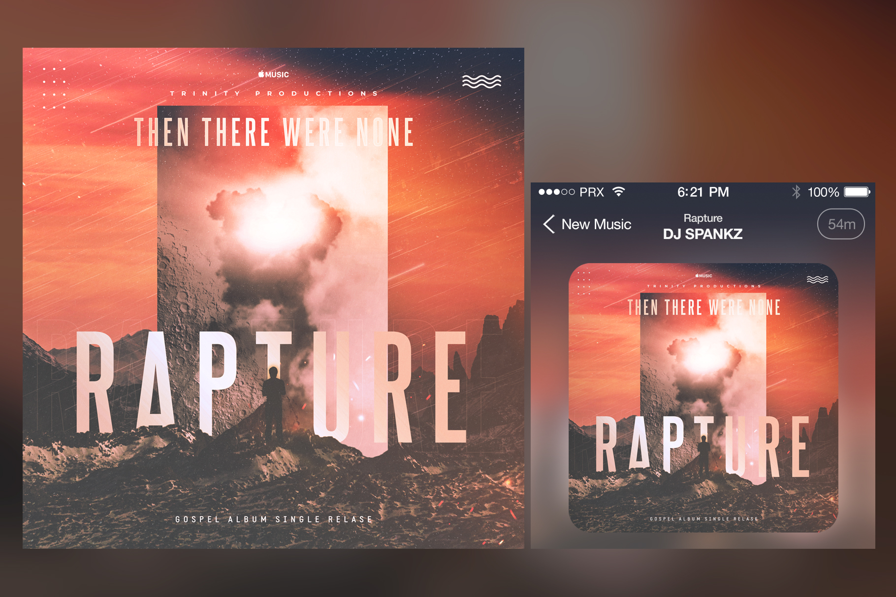 Rapture Album Cover Template example image 2