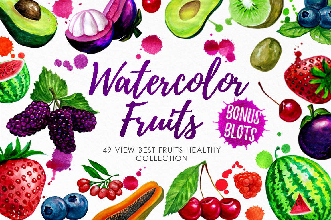 Watercolor Fruits Vol. 3 example image 1