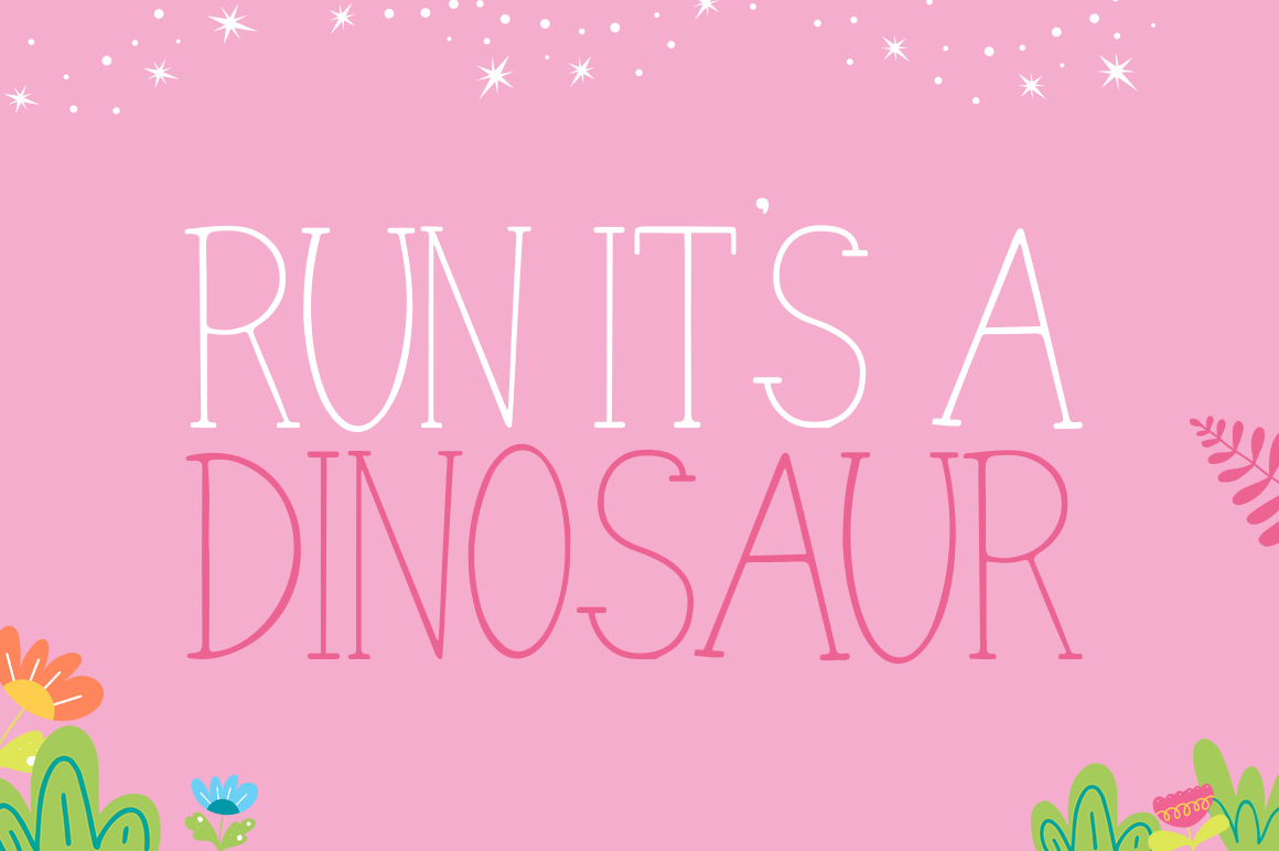 Dino Friends Font example image 3