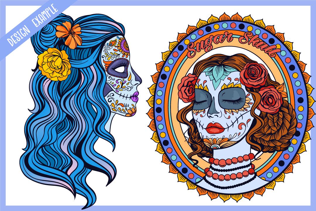 Sugar Skull SVG Collection | Calavera Ladies SVG example image 5
