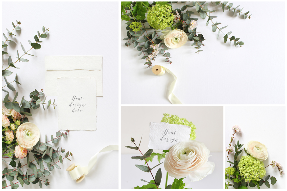 Spring Wedding mockups  & stock photo bundle example image 4