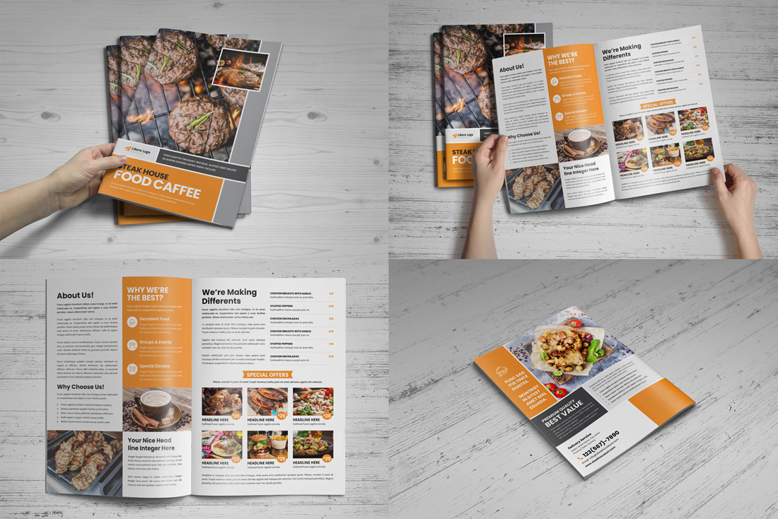 Food Menu Restaurant Brochure Bundle example image 2