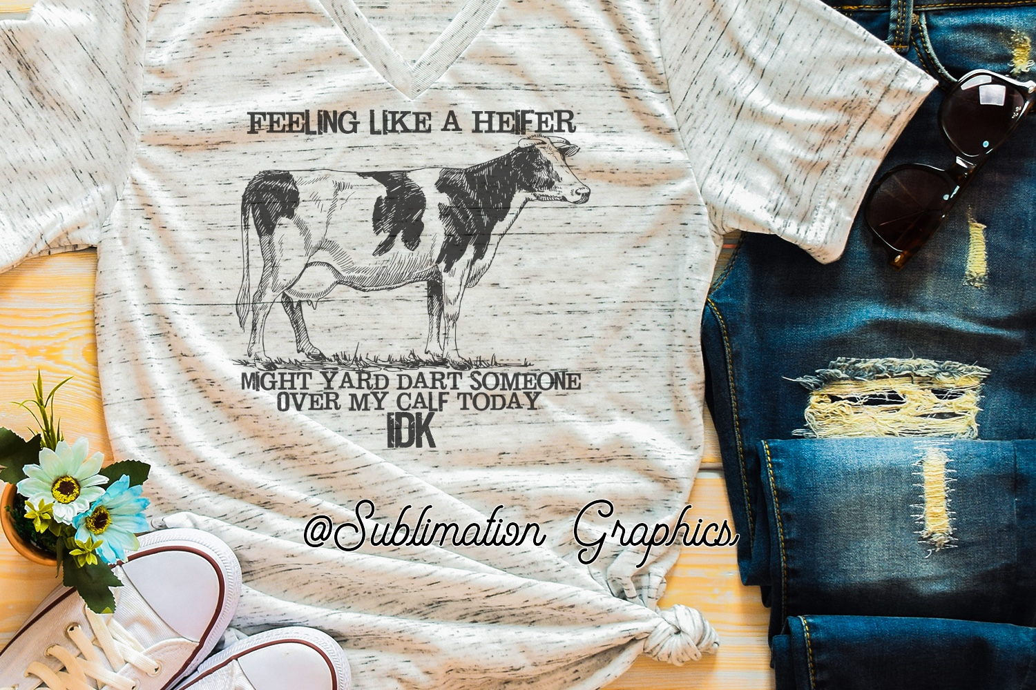 Feeling Like A Heifer Sublimation Digital Download example image 1