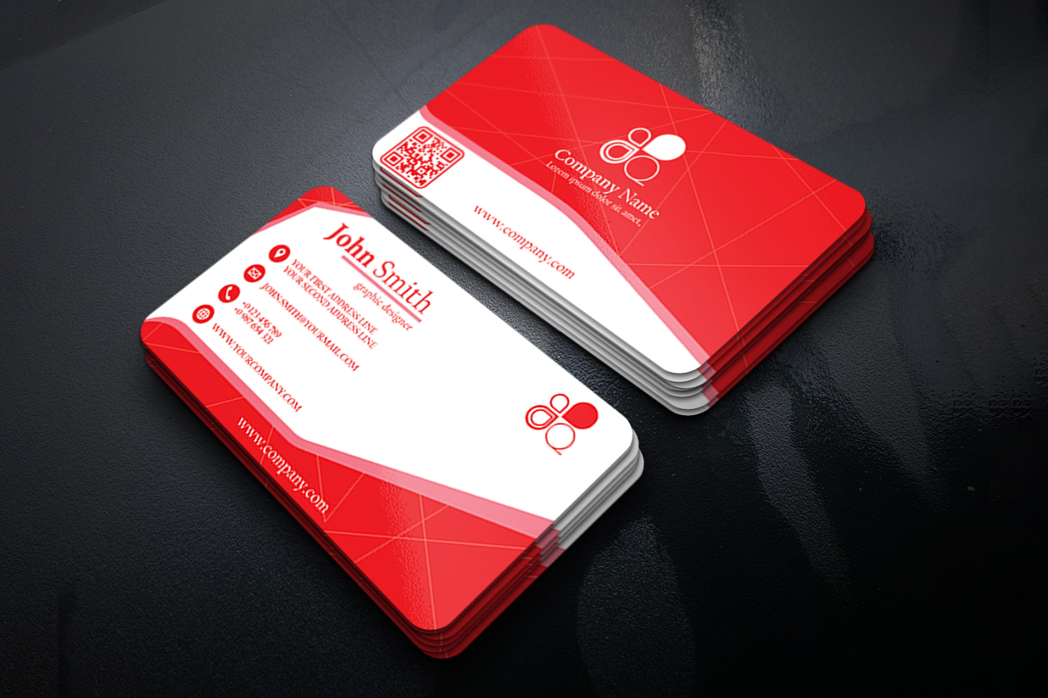 Business Card Simple Modern Design in 3 different Colors example image 6
