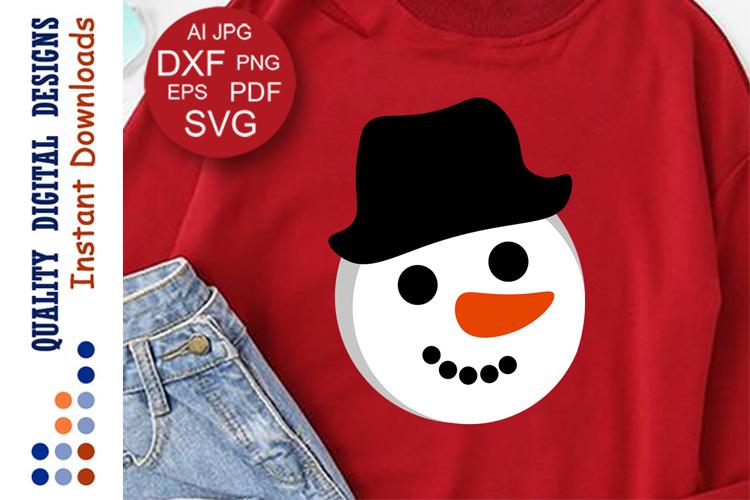 Christmas decor Snowman svg Holiday shirts example image 1