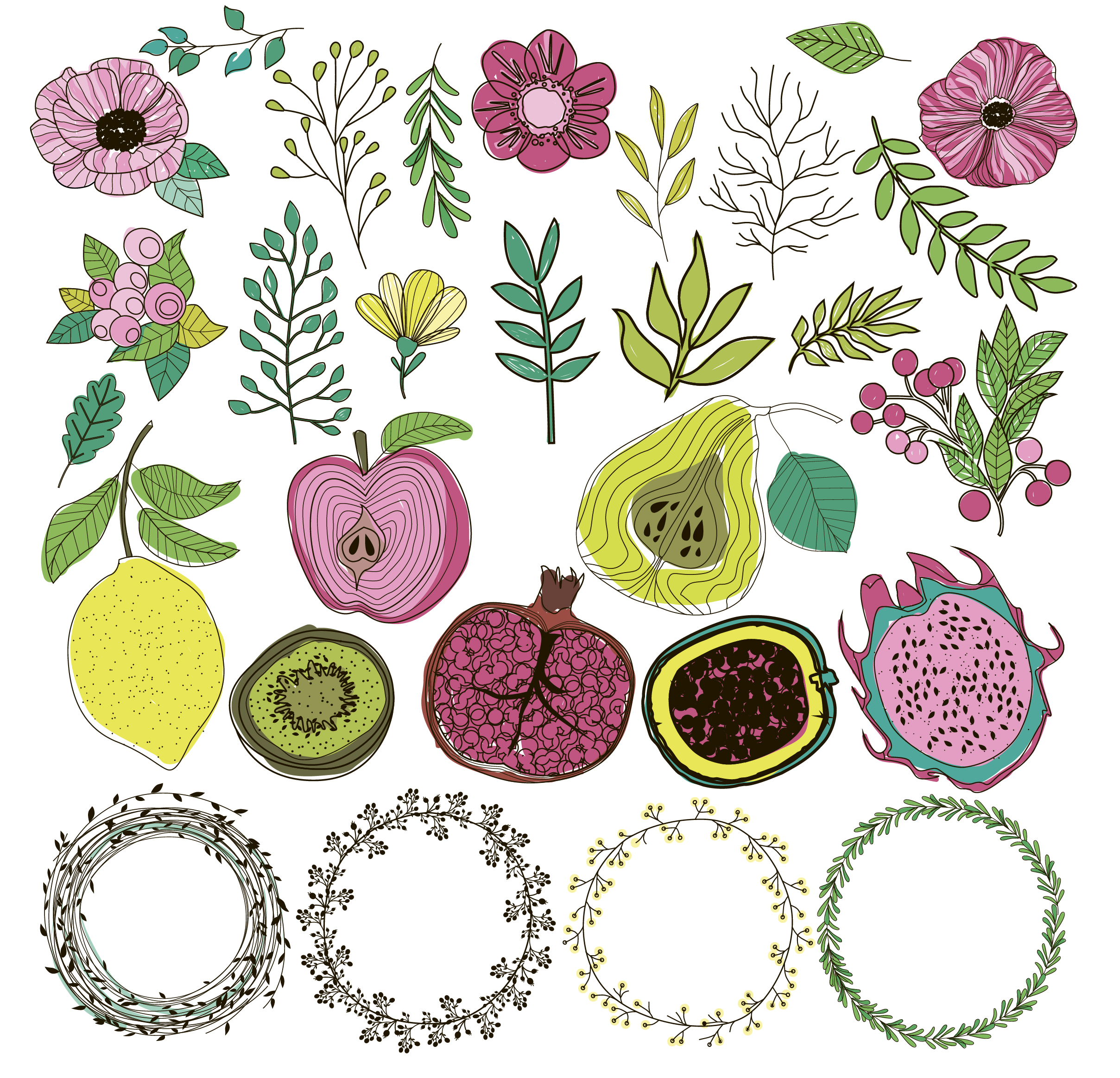 Botanical logos & illustrations example image 3