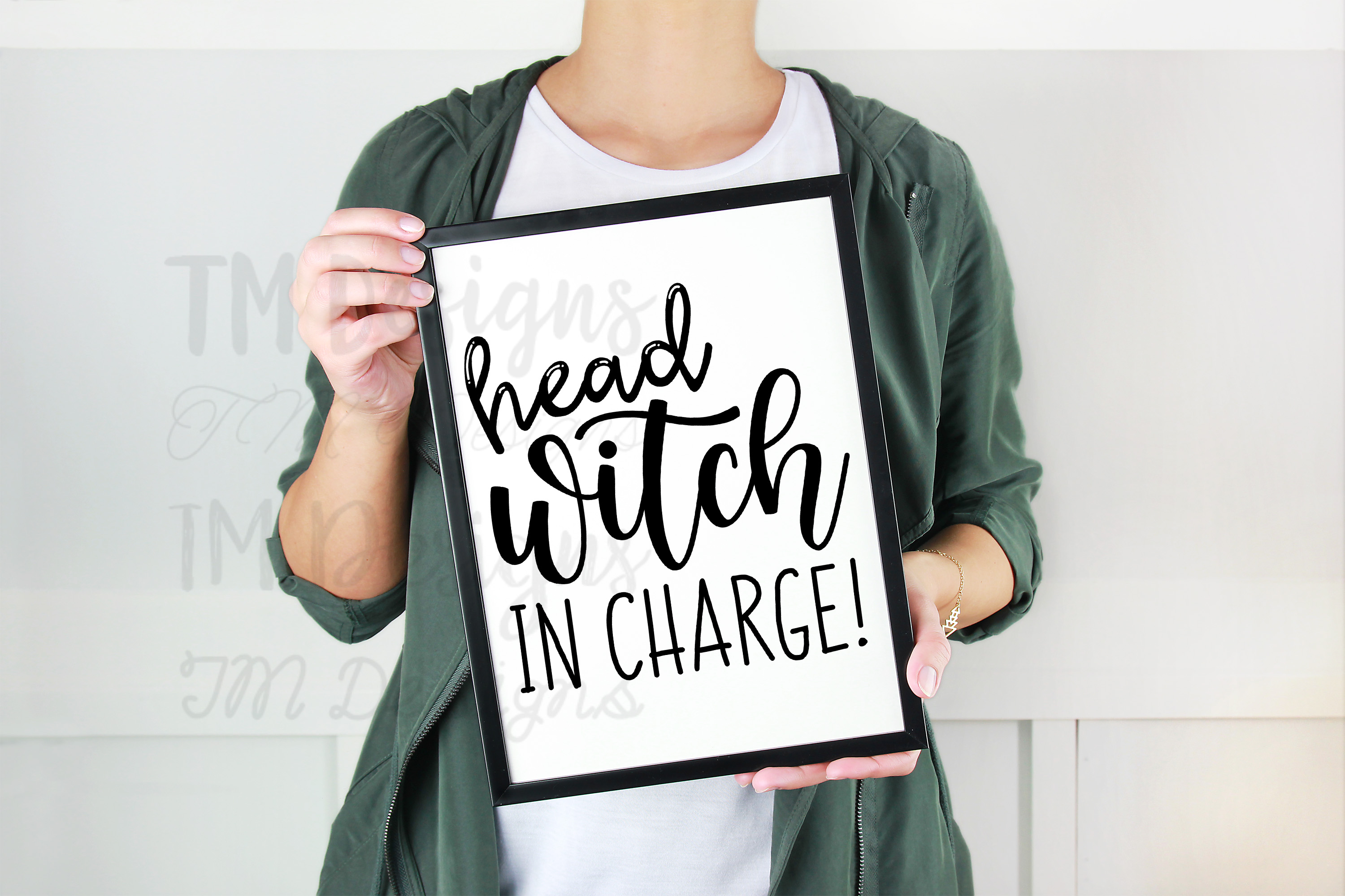 Head Witch in Charge SVG example image 2