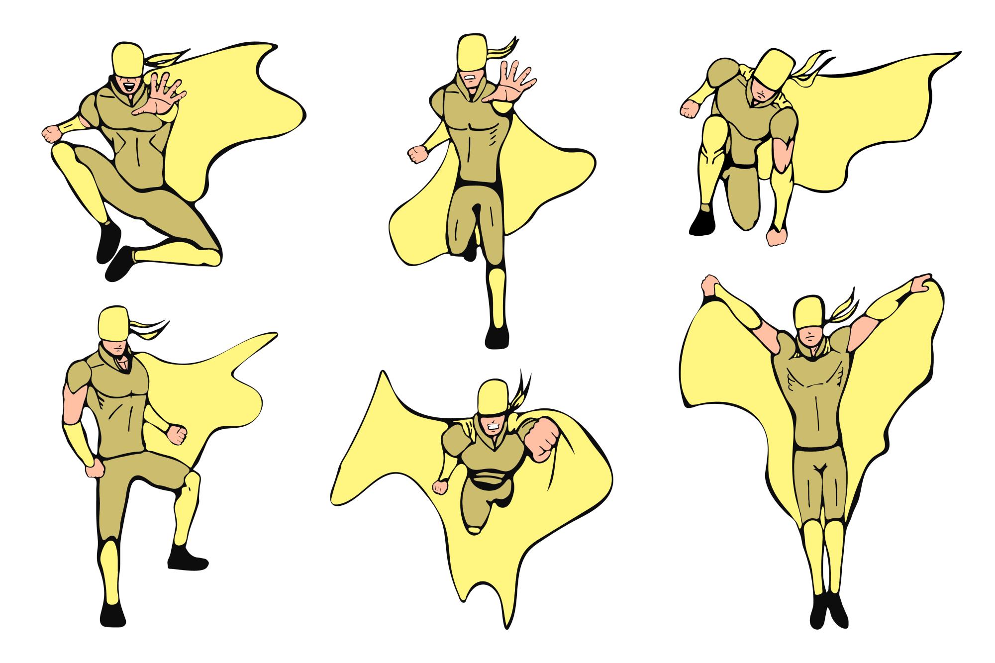 Superhero models in various poses. example image 6