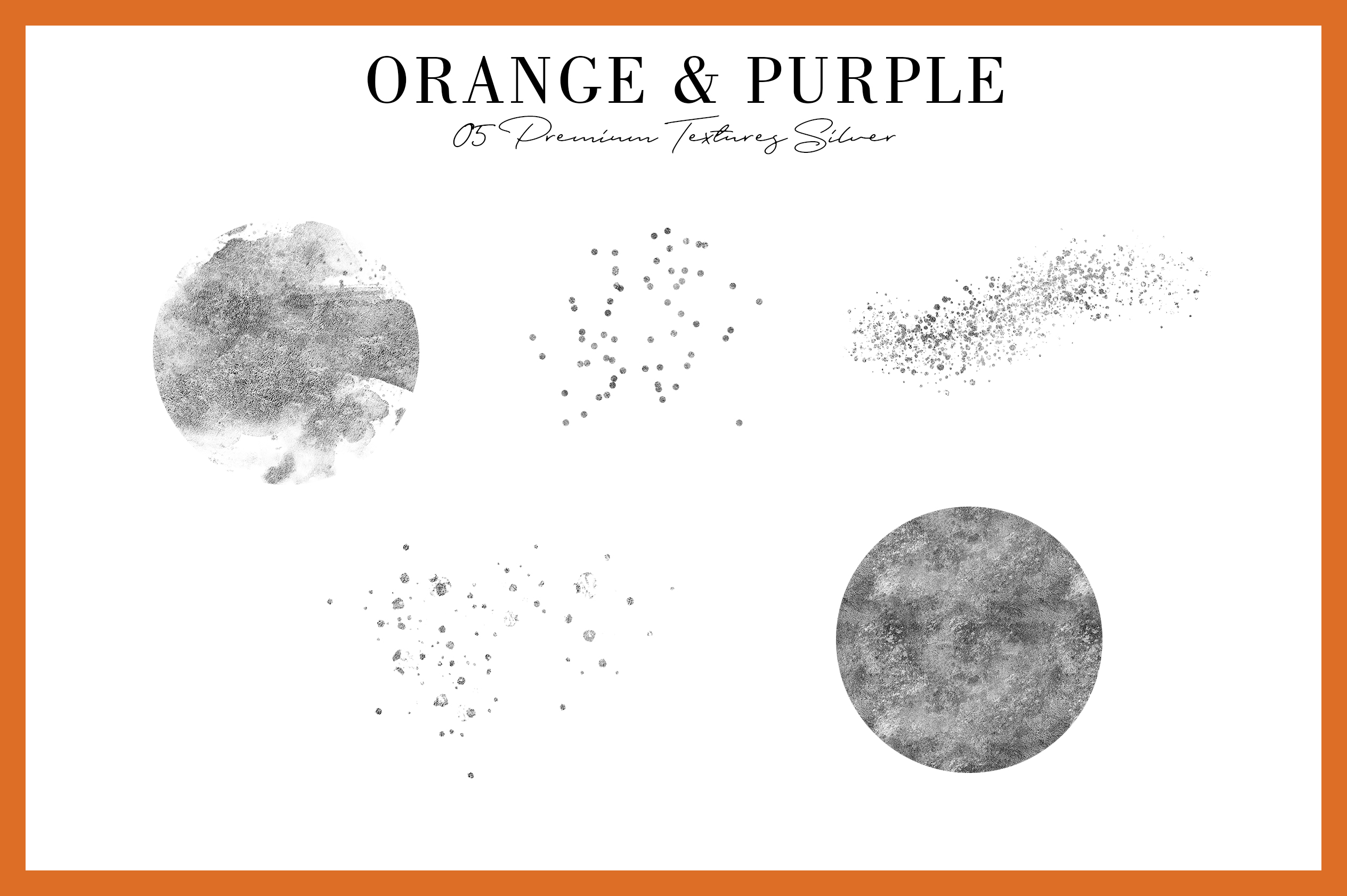 Orange & Purple Flower | Halloween Blossom example image 6