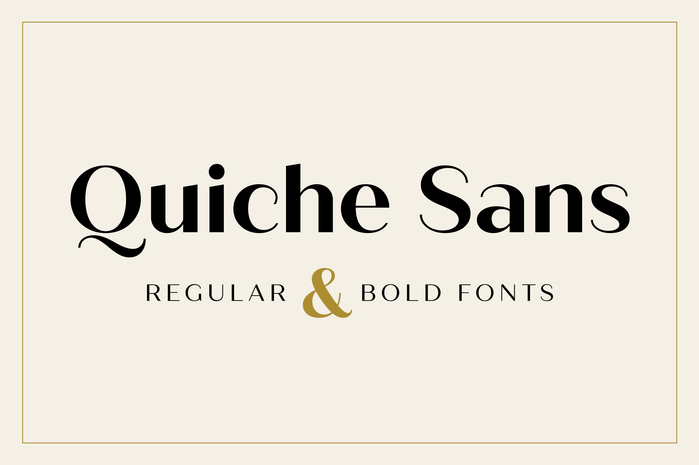 Quiche Sans Regular and Bold Fonts example image 1