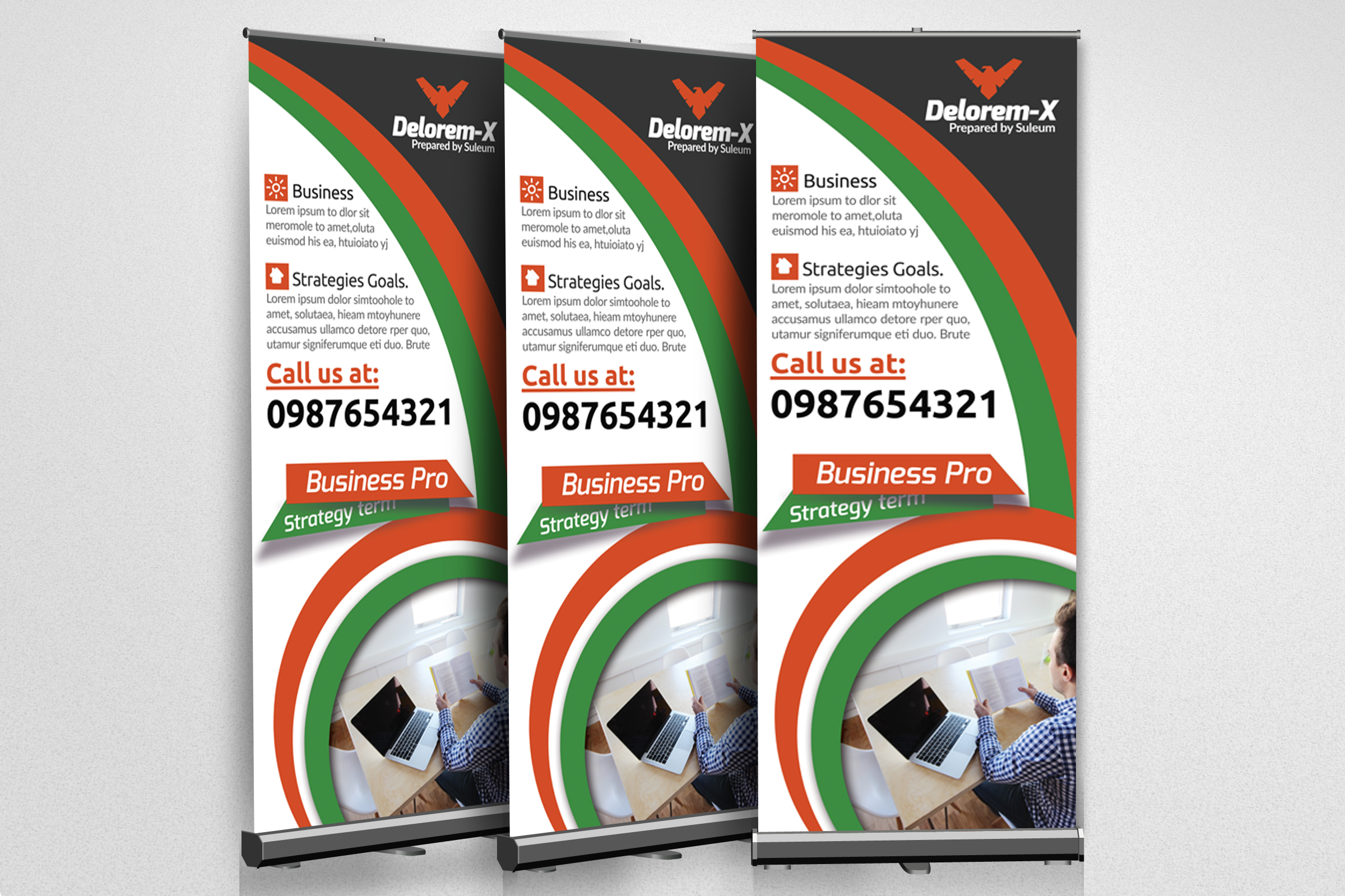 Business Roll Up Banners Templates example image 2