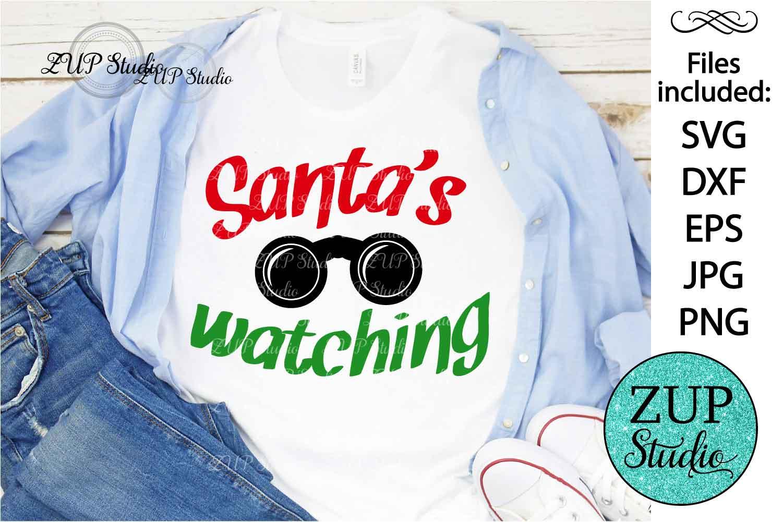 Santa's Watching Digital Cutting files file 125 example image 1