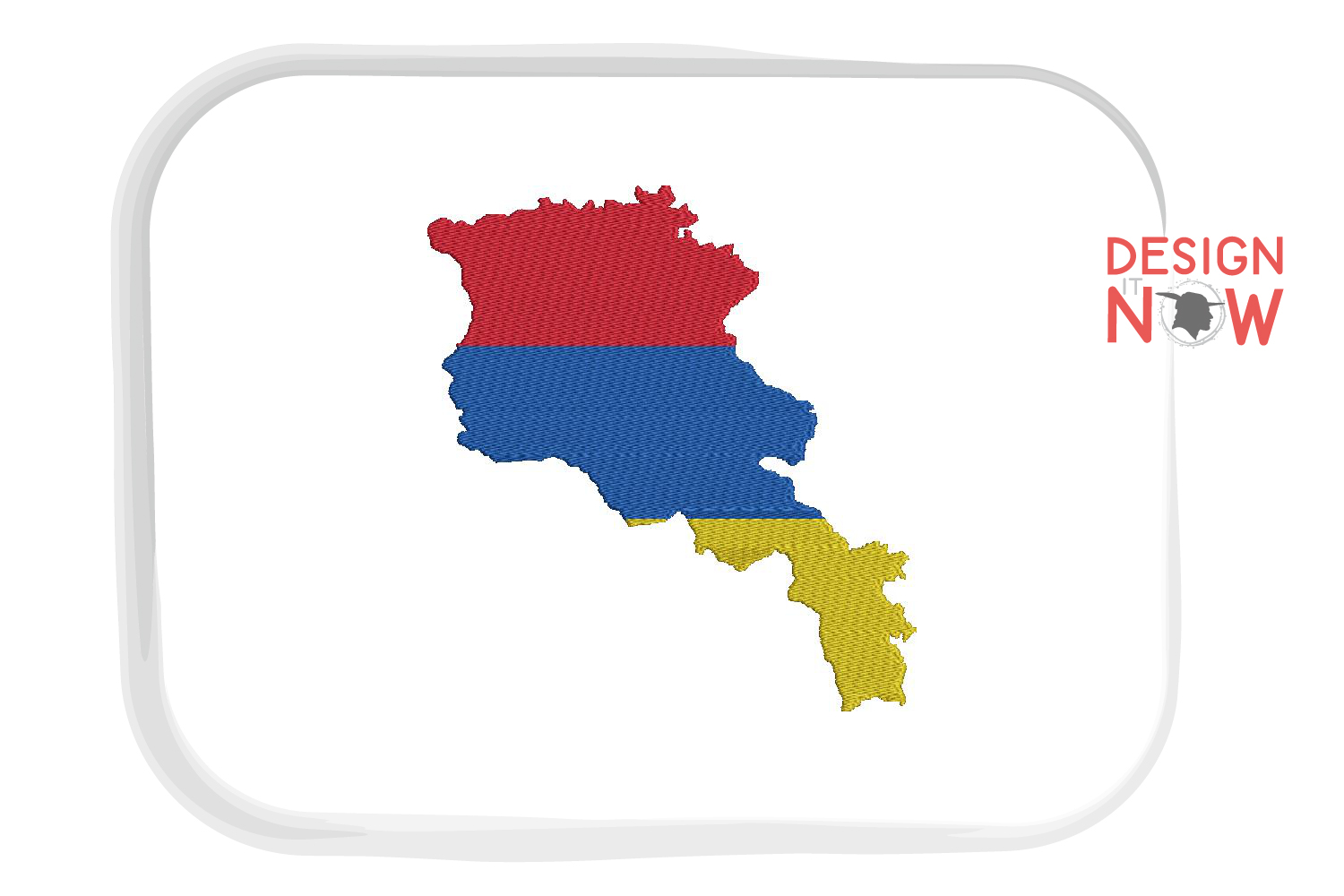 Armenia Map Embroidery Design, Map Embroidery Design example image 1
