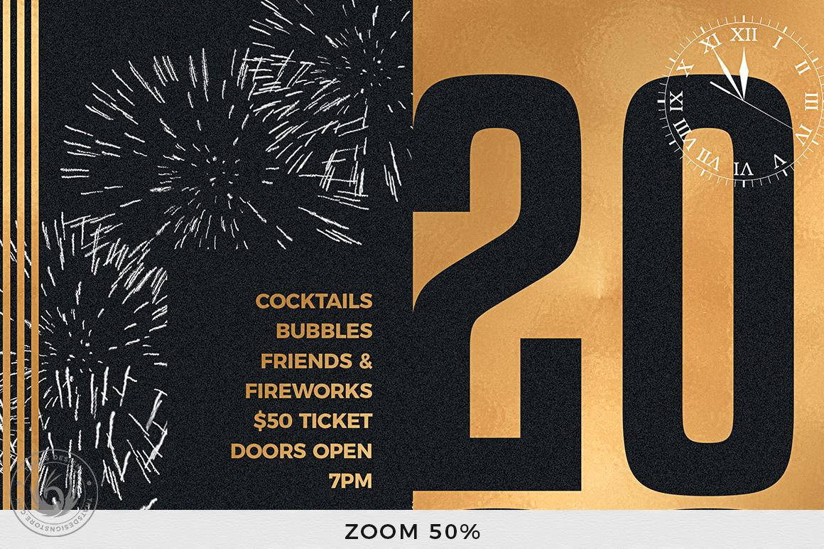 New Year Flyer Template V9 example image 7