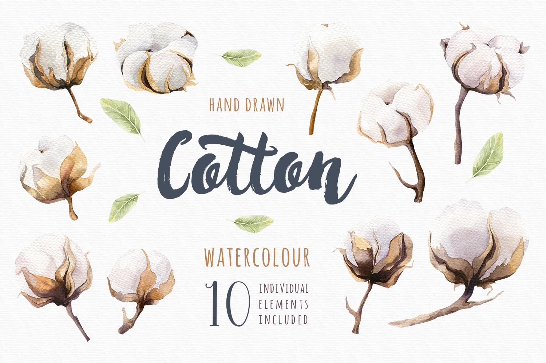 Watercolour cotton & birds example image 2