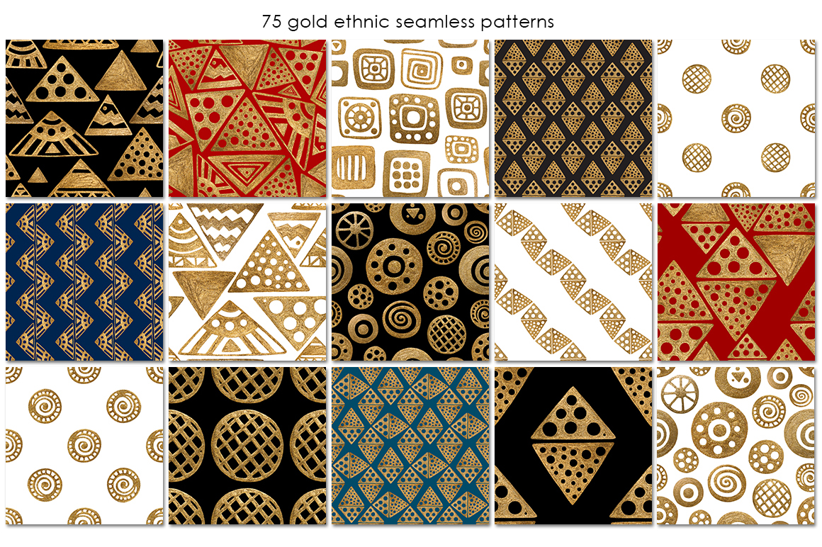 GOLD ETHNIC patterns example image 4