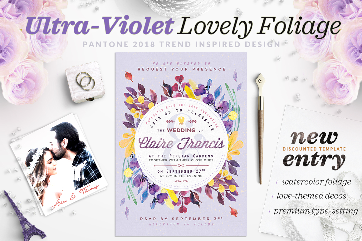 Ultra-Violet Lovely Foliage Card IV example image 1