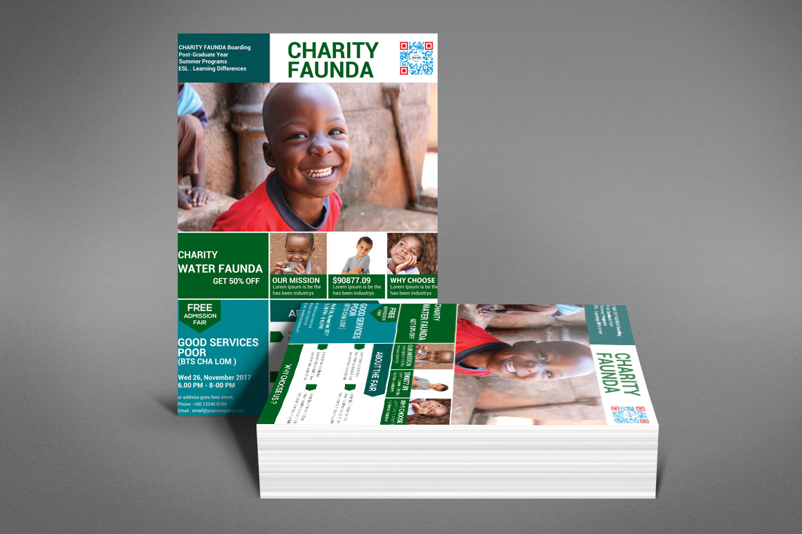 Charity Fundraisers Flyer example image 2
