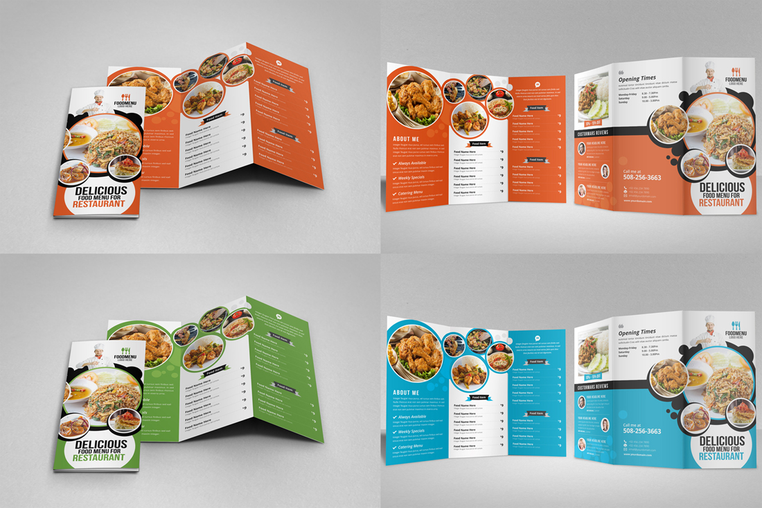 Food Menu Restaurant Brochure Bundle example image 8
