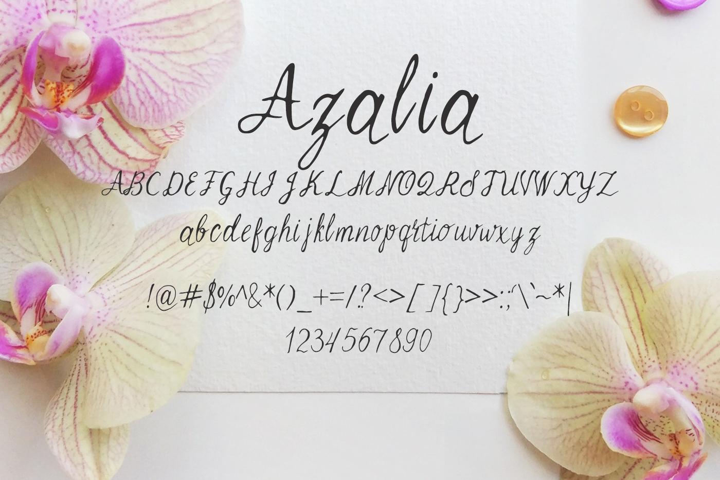 Azalia Font example image 2