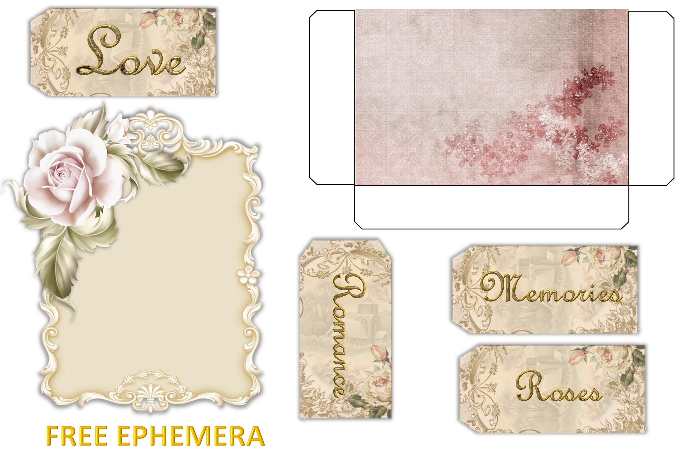 Printable Journaling Kit Victorian with FREE EPHEMERA cu example image 9