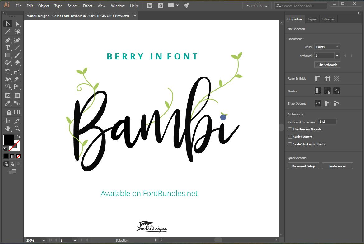 Bambi Font New Extras ! example image 4