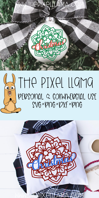 Christmas Mandala SVG example image 3