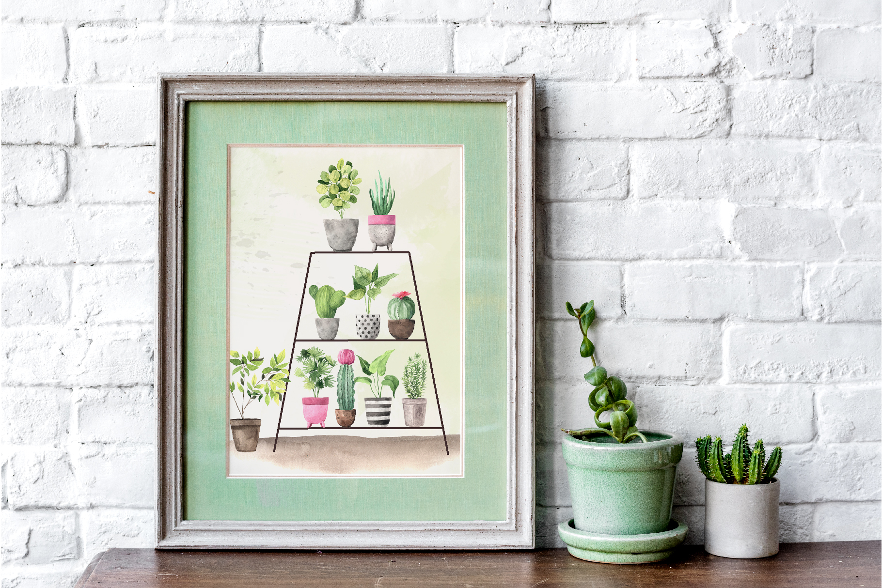 Watercolor House Plants Collection example image 6