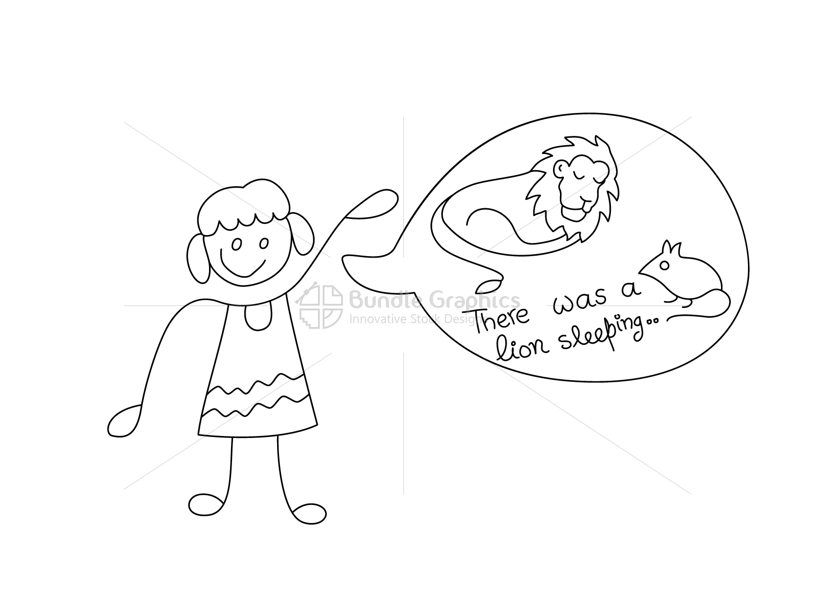 Kid Narrating Story - Graphical Illustration example image 2