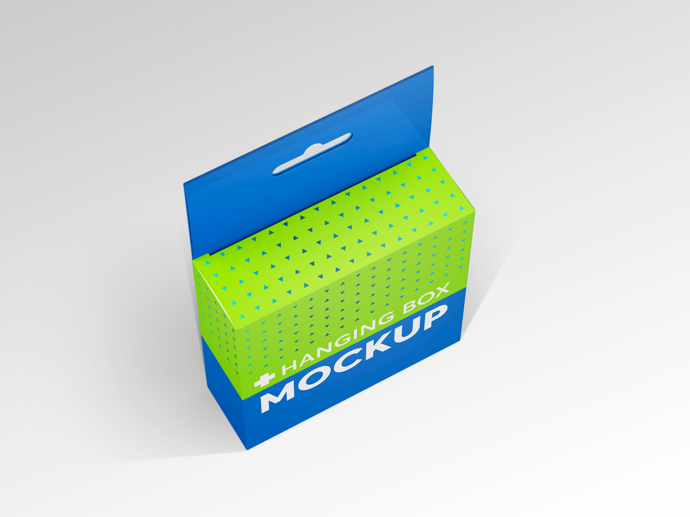 Flat Square Box with Hanger Mockup example image 6