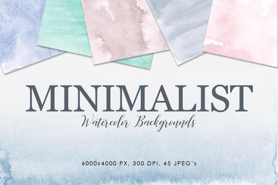 Minimalist Watercolor Backgrounds example image 1