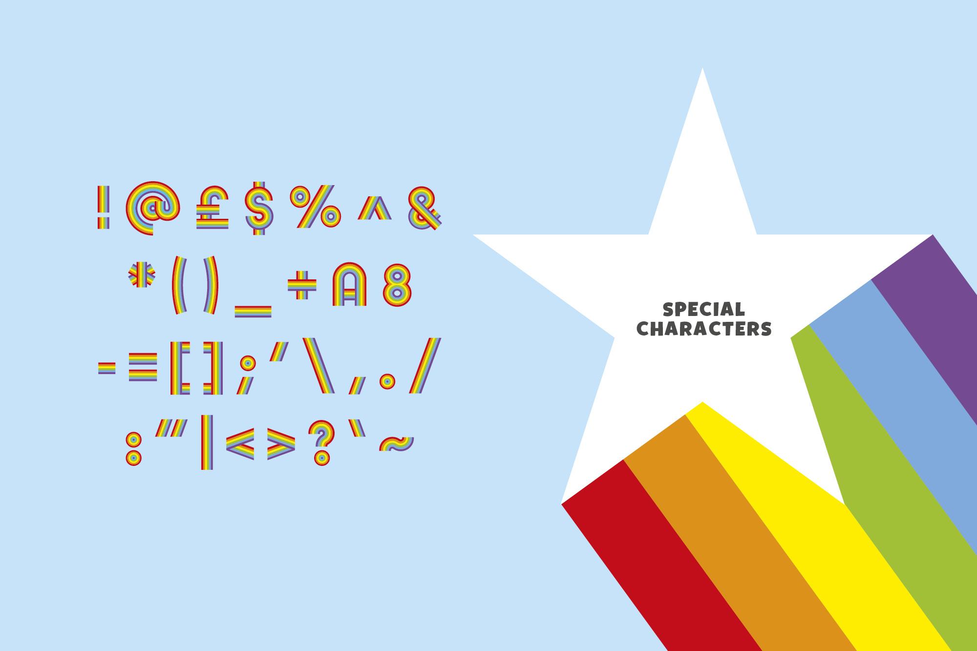 Rainbow Ryder EPS Font example image 4