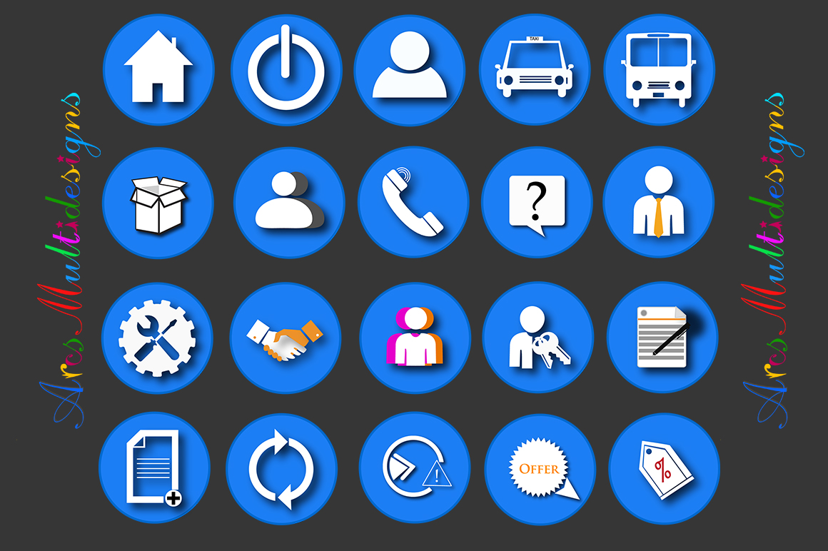 web icons vector / commercial use / SVG / png/ icons with name / vector icons / web cool icons / home icon example image 4