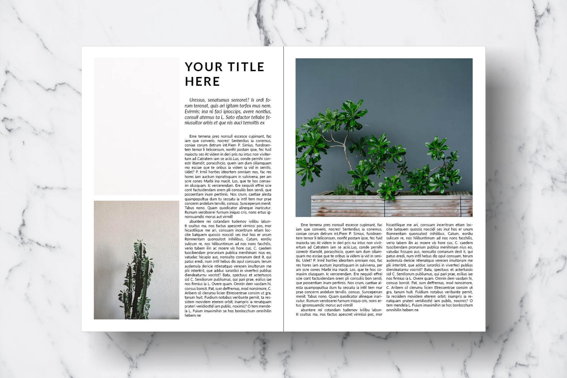 Magazine Template Vol. 15 example image 6