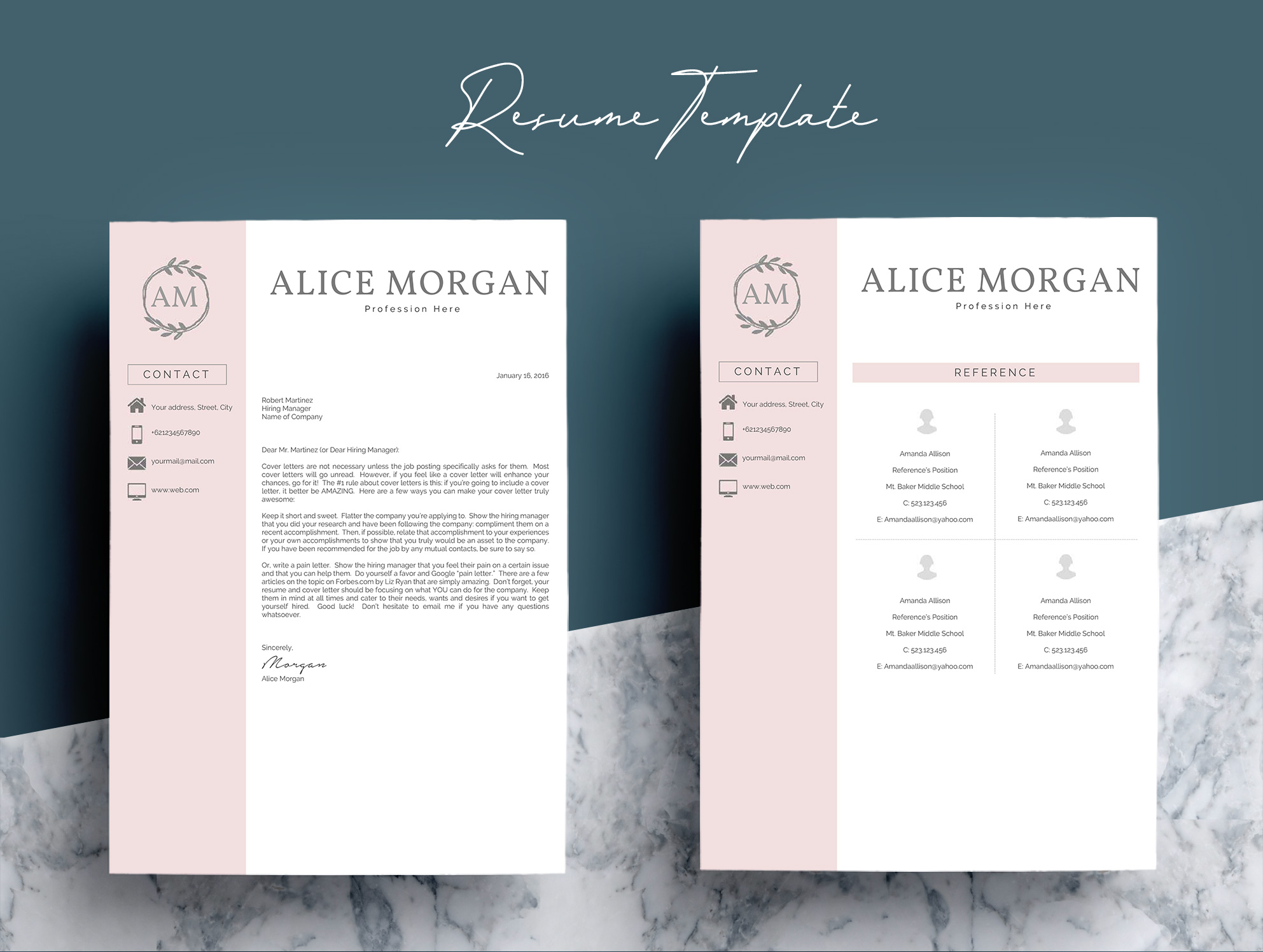 Professional Creative Resume Template - Alice Morgan example image 7