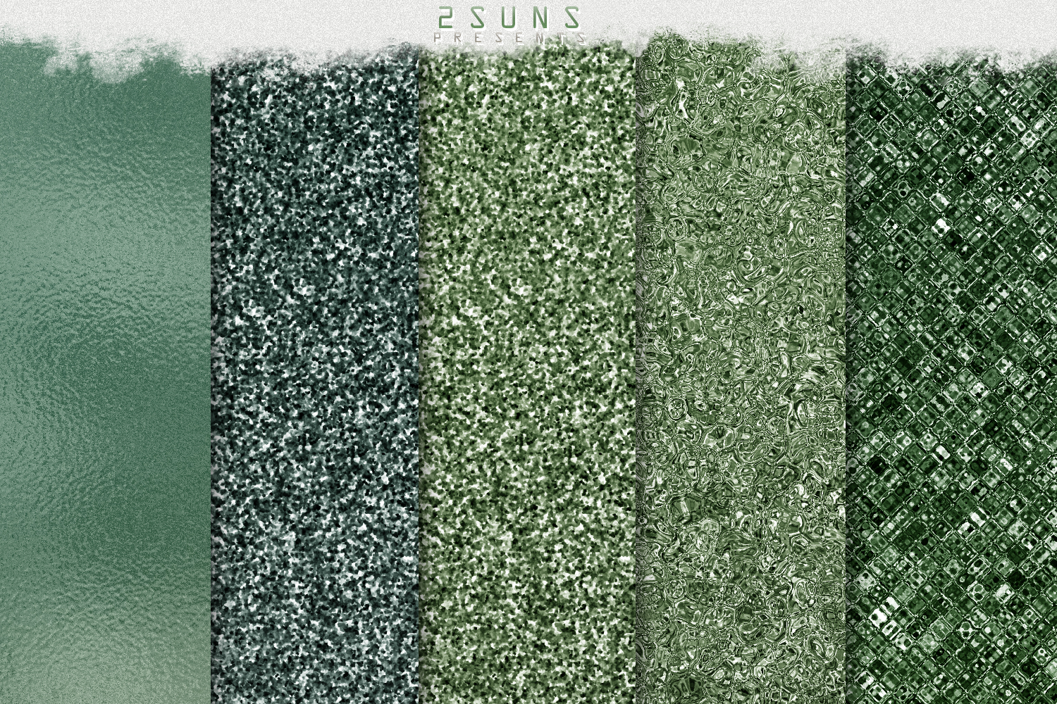 Green Dream digital papers textures, background, invitation example image 7