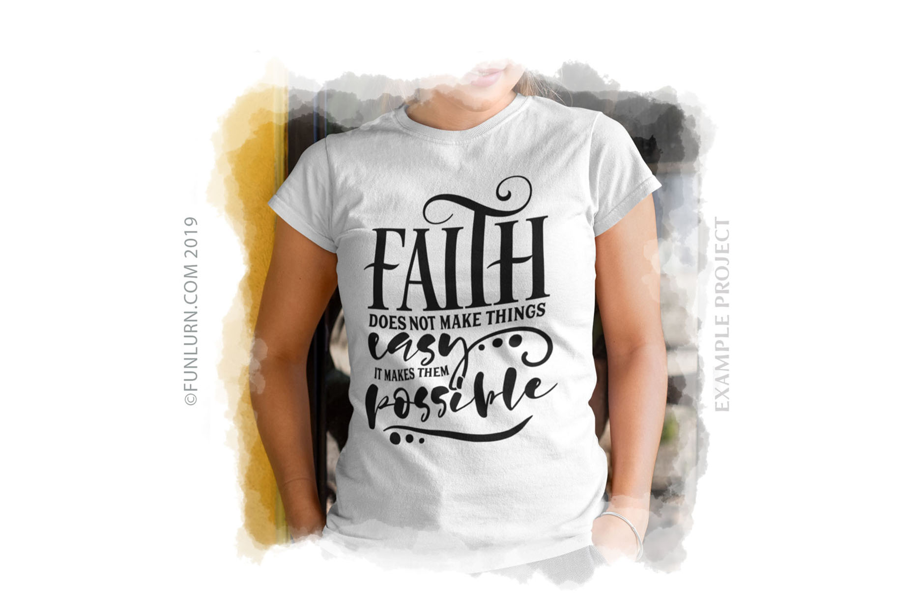 Faith Does Not Make Things Easy SVG Cut File example image 3
