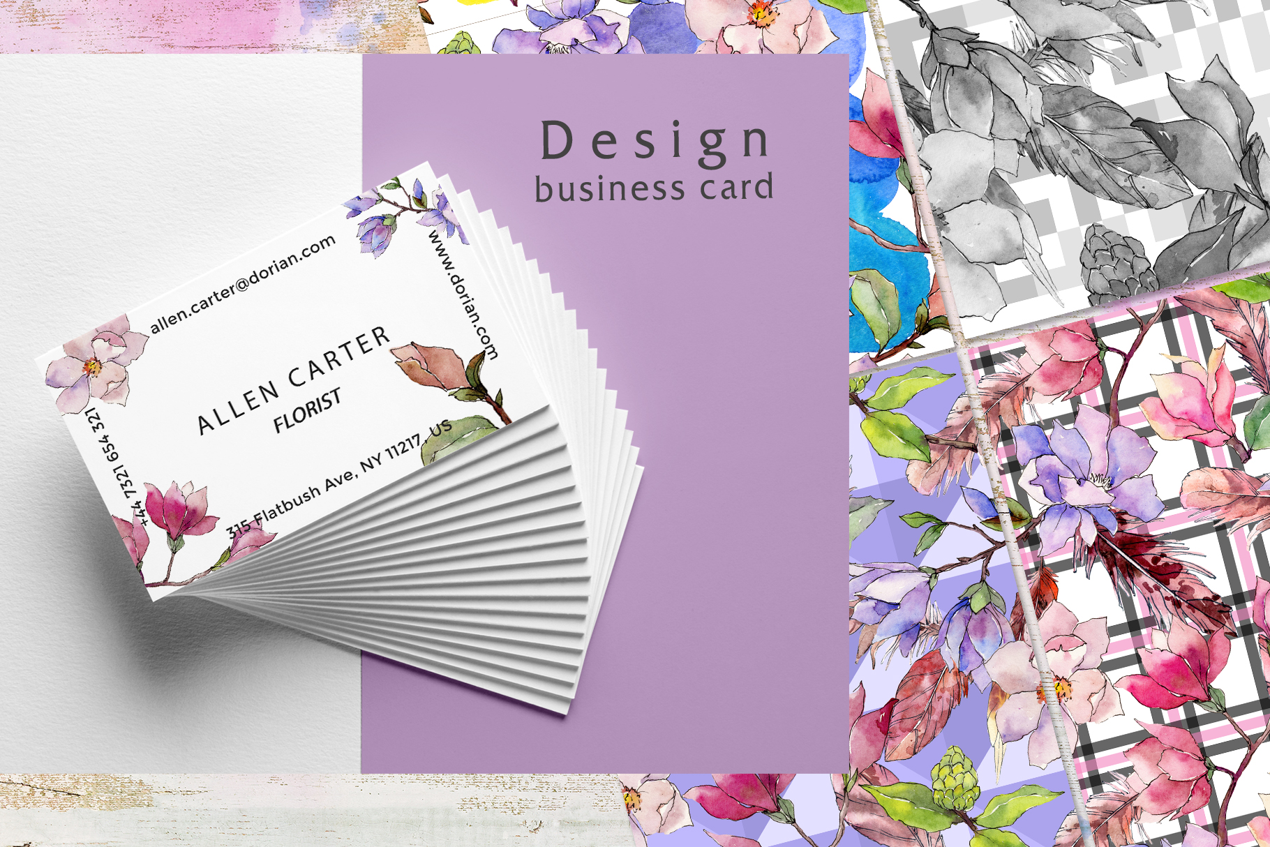 Jango magnolia JPG watercolor set  example image 7
