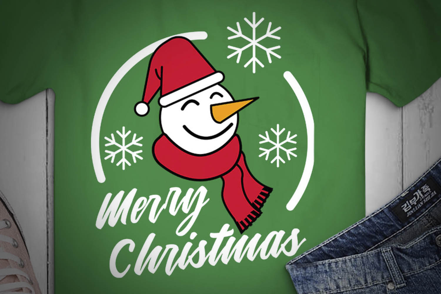 Merry Christmas SVG, Snowman SVG, Winter SVG, Carrots example image 2