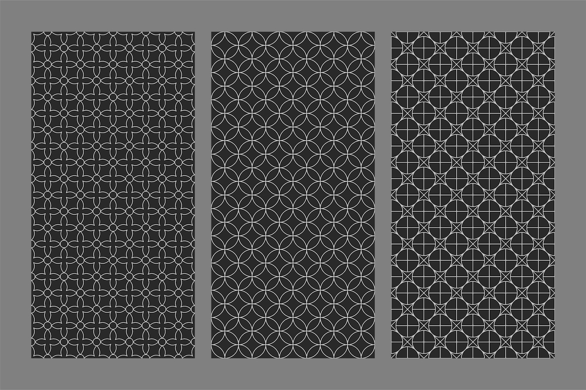Vector seamless ornamental patterns example image 7
