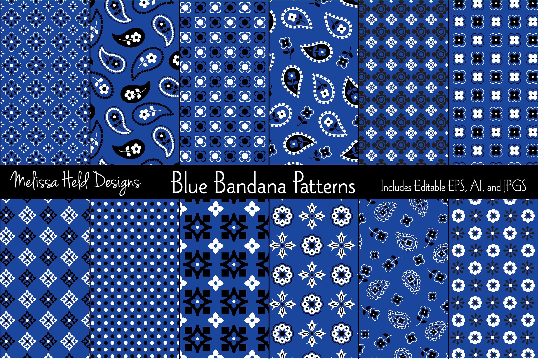 Blue Bandana Patterns example image 1