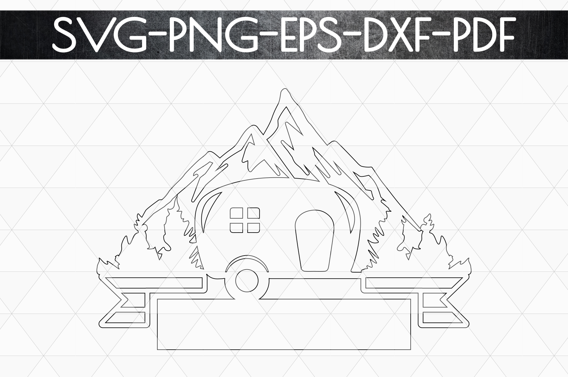 Camper Life Sign Papercut Template, Adventure Cut Files, SVG example image 5