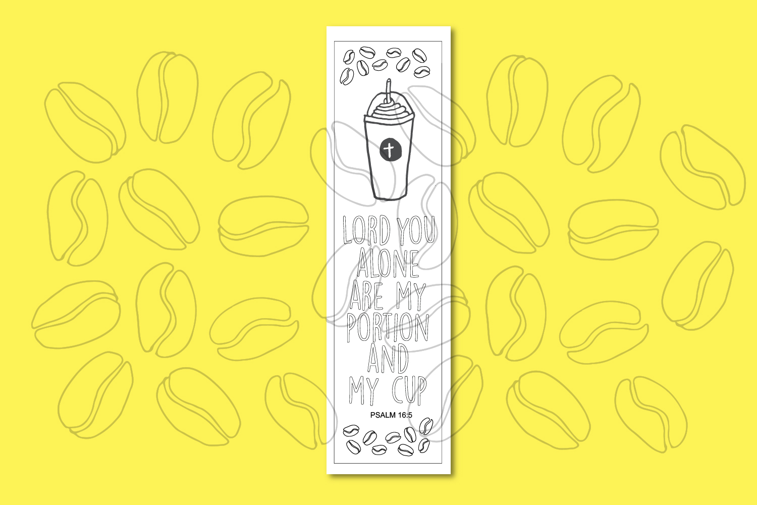Printable Coloring page Coffee Themed Bible Verses example image 4