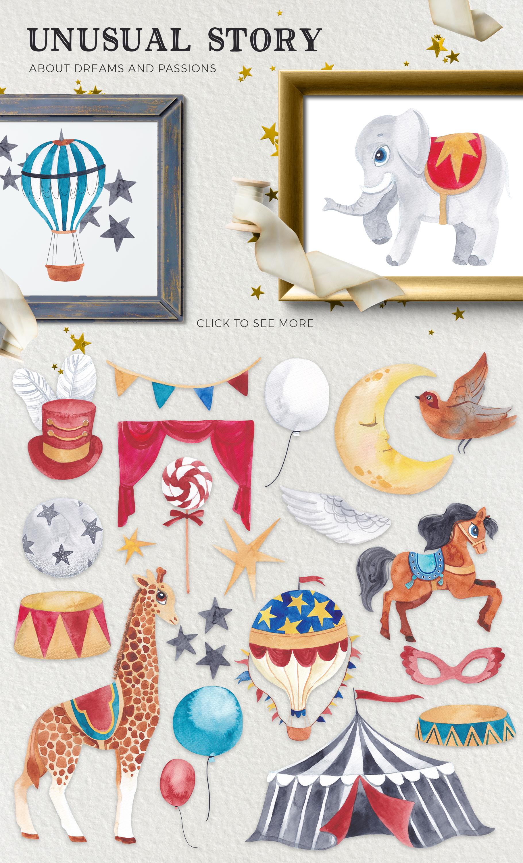 The Magic Circus vintage design set example image 3